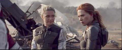 Yelena and Natasha standing together