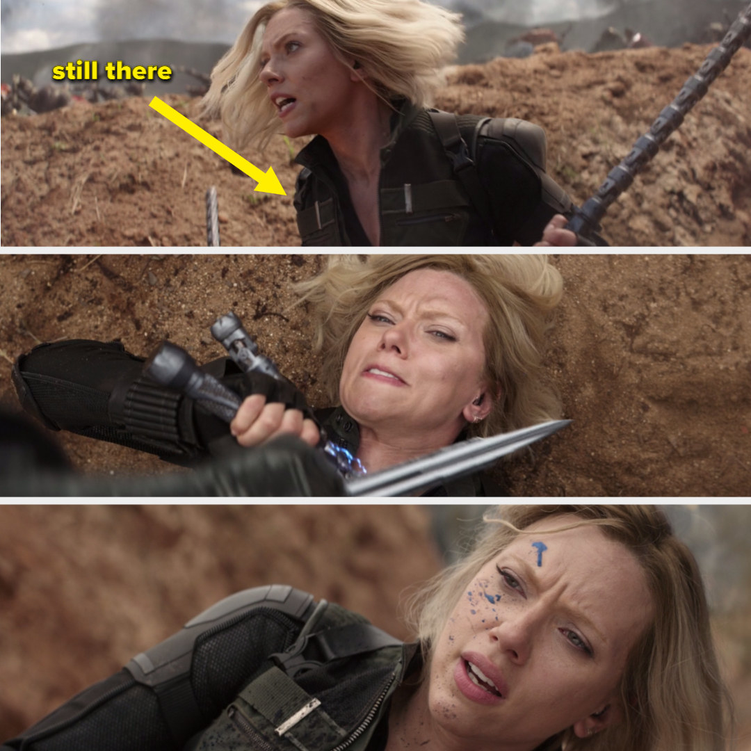 Natasha fighting in vest from her sister