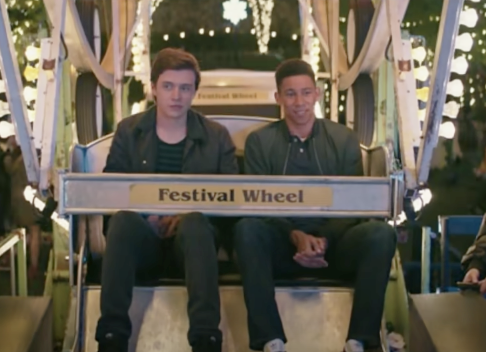 Bram and Simon on the Ferris wheel together in the movie