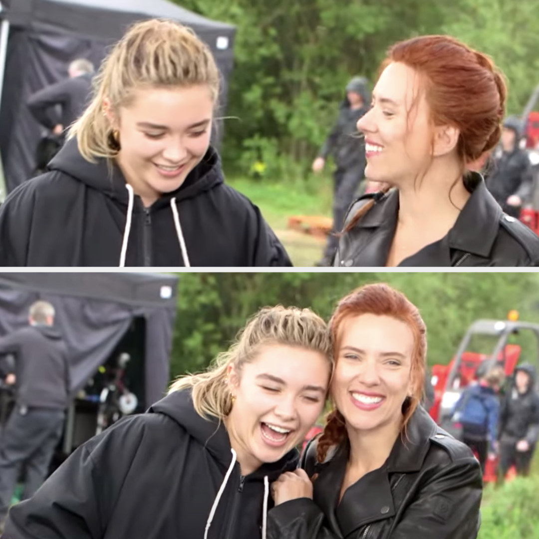Sisters laughing and hugging