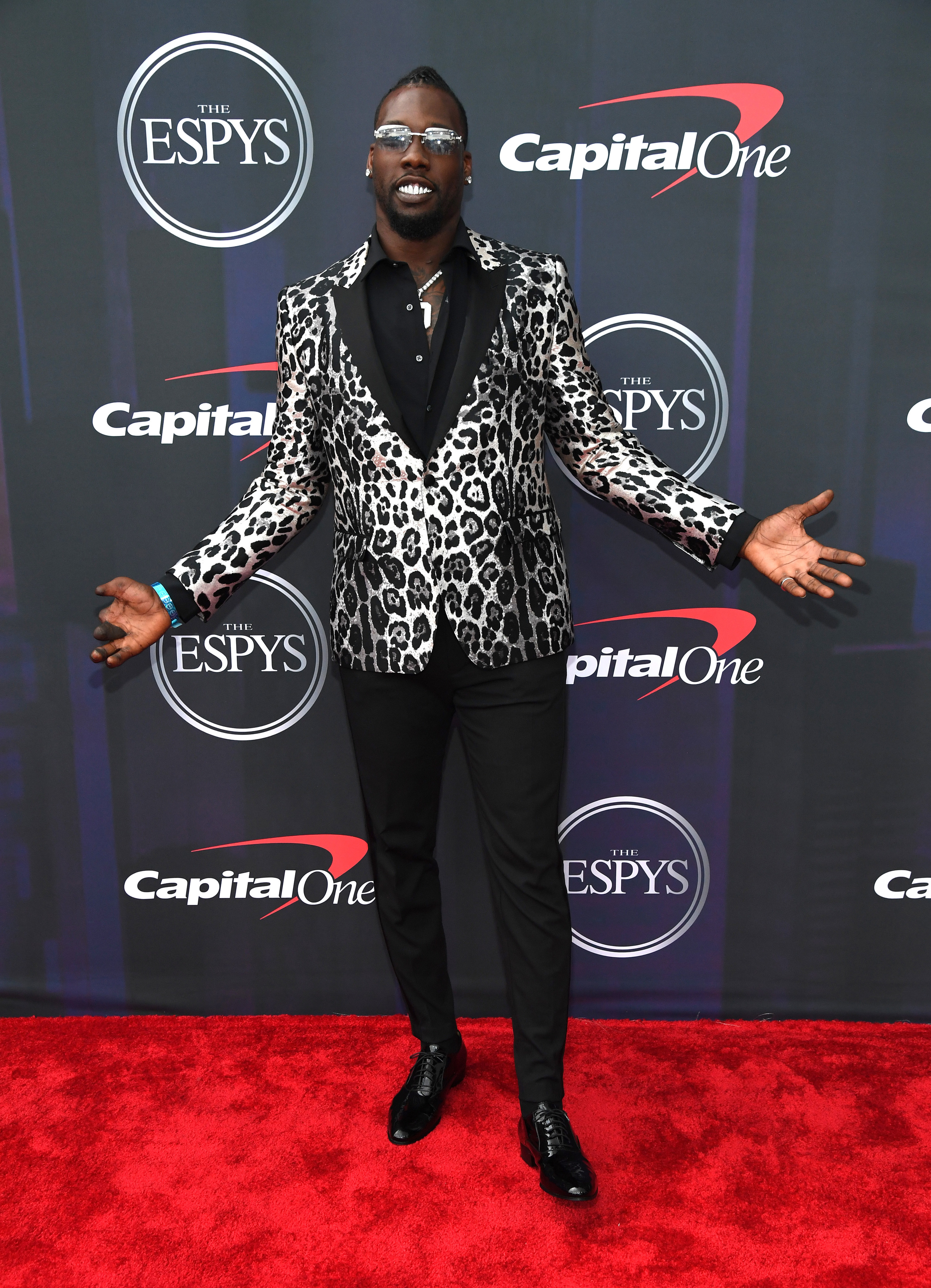 Jason wore a leopard-print blazer