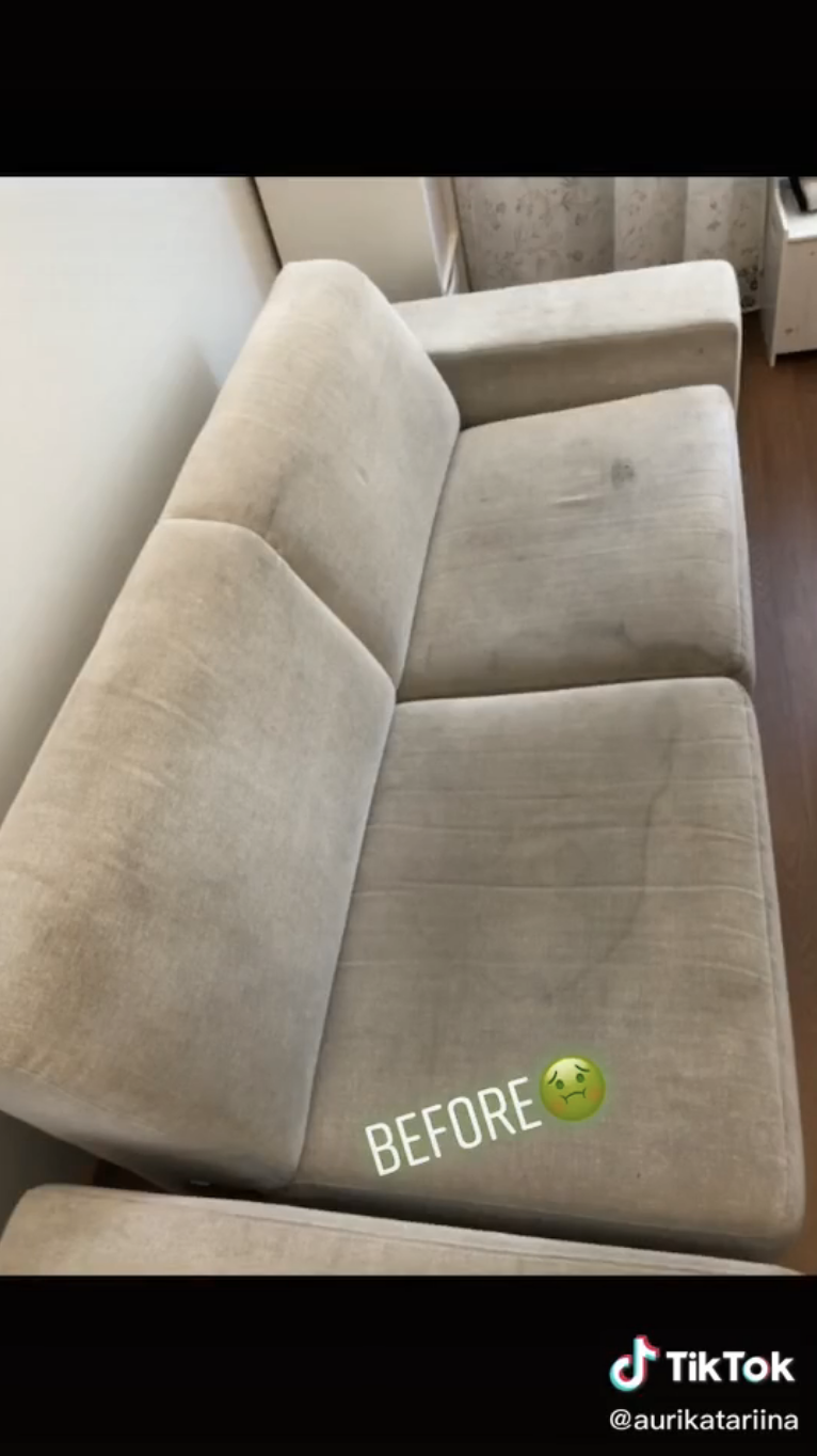 A dirty couch