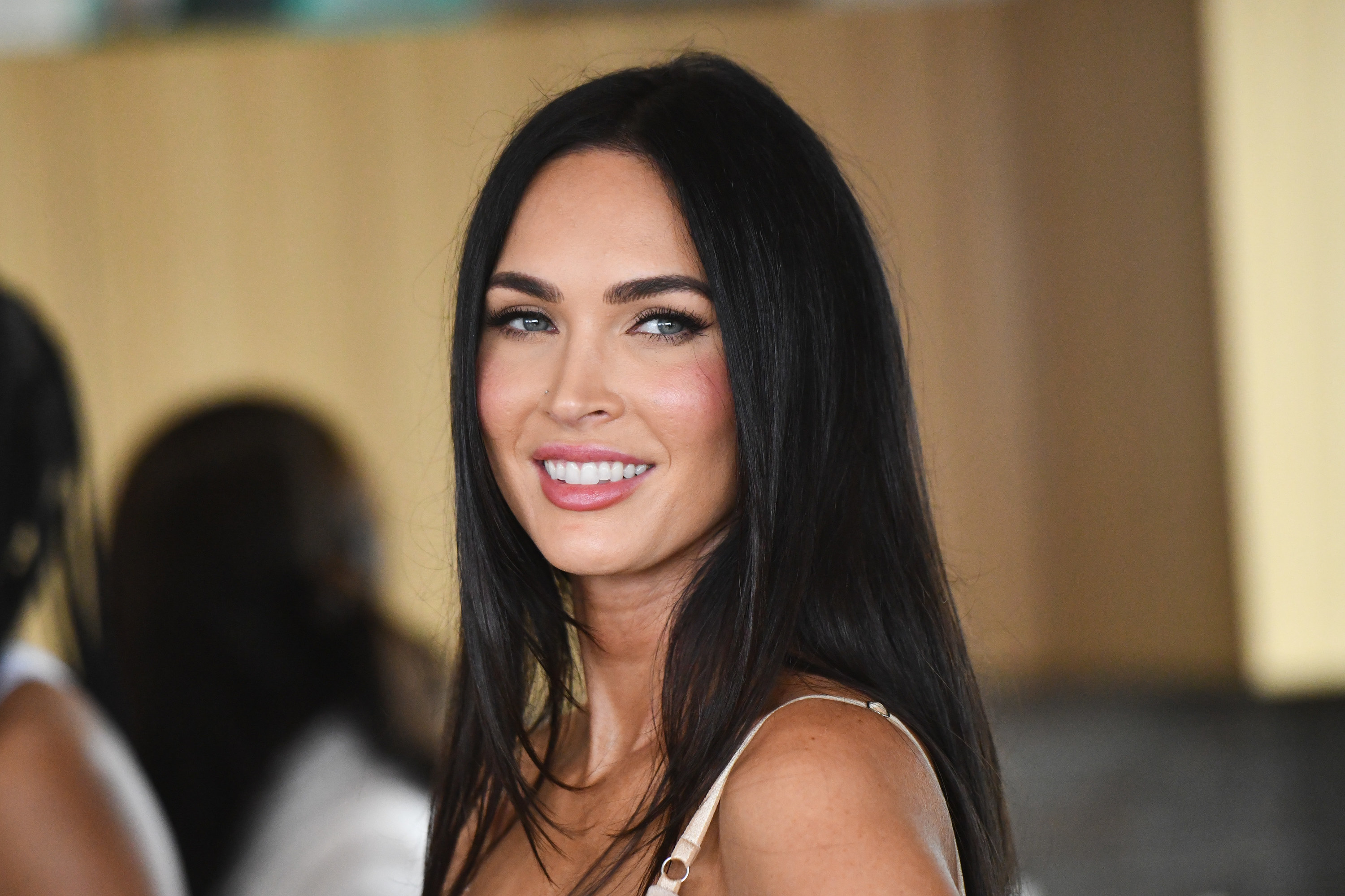 Megan Fox is photographed smiling