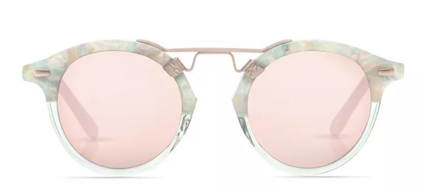seaglass to marine/rose gold mirror sunglasses