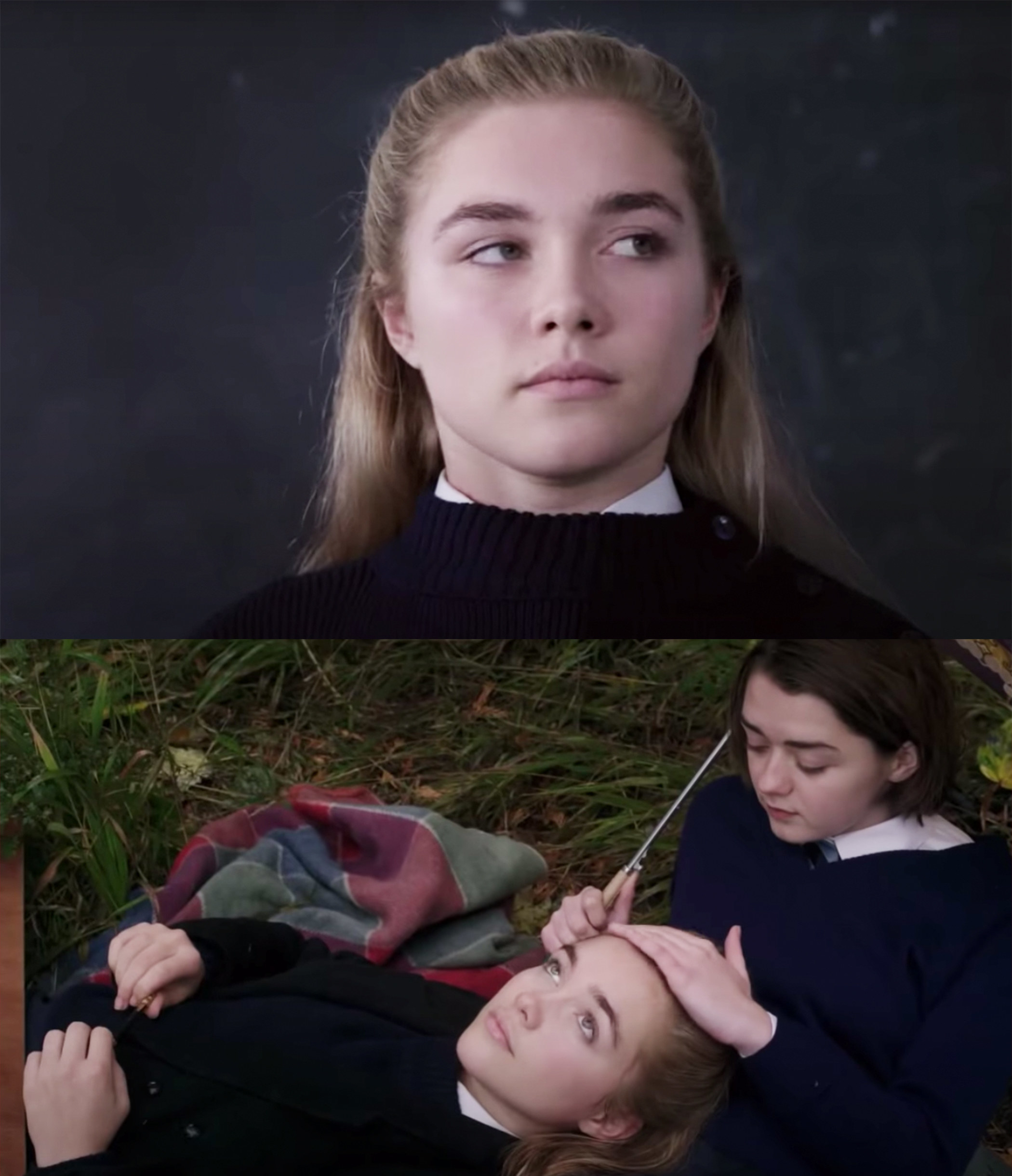 she played a schoolgirl alongside Maisie Williams