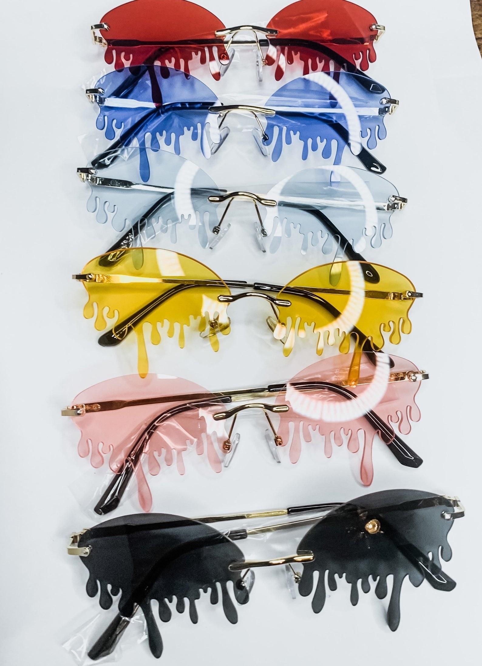 drip sunglasses in various colors