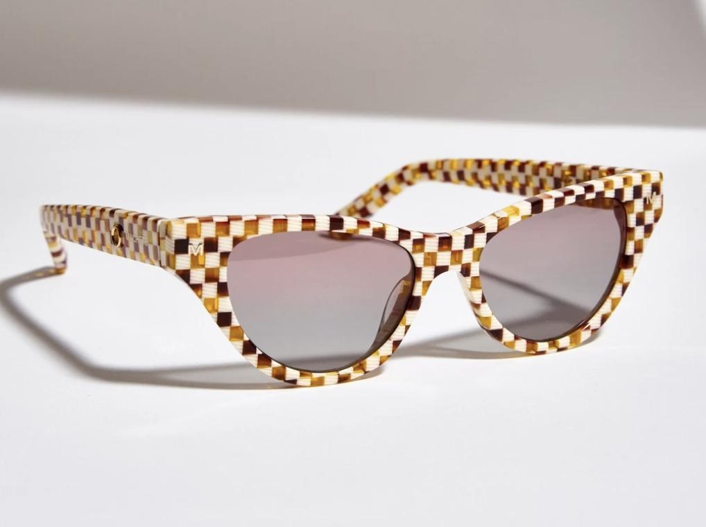 checker print sunglasses