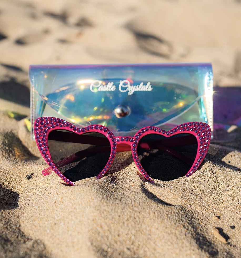 rose heart sunglasses
