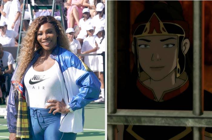 Serena Williams and Ming the prison guard