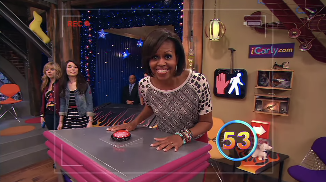 Michelle Obama playing the game