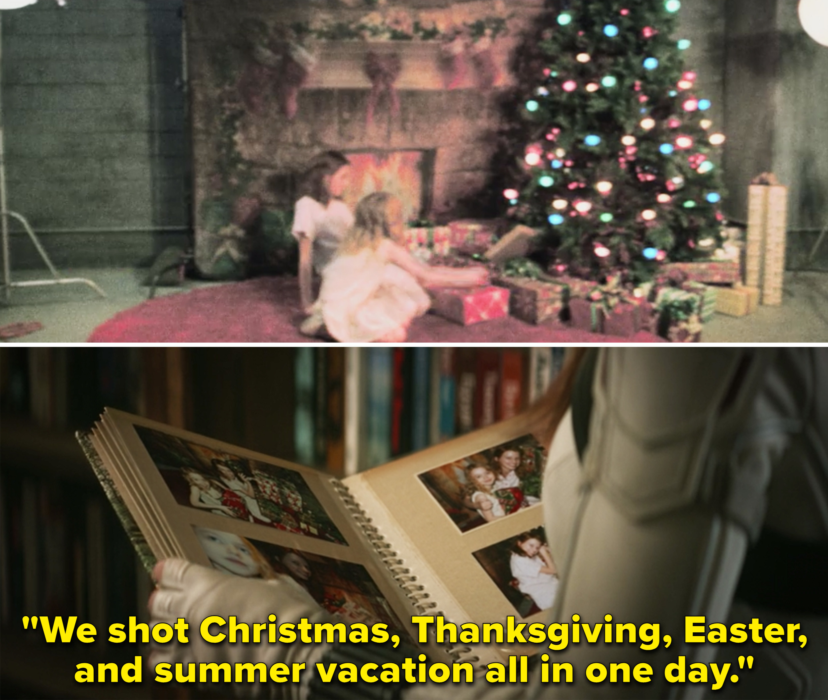 """Natasha saying, """"We shot Christmas, Thanksgiving, Easter, and summer vacation all in one day"""""""