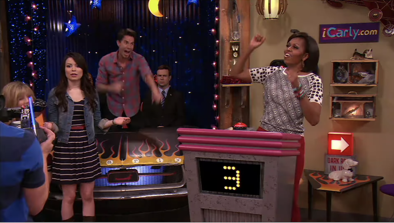 Michelle Obama on iCarly