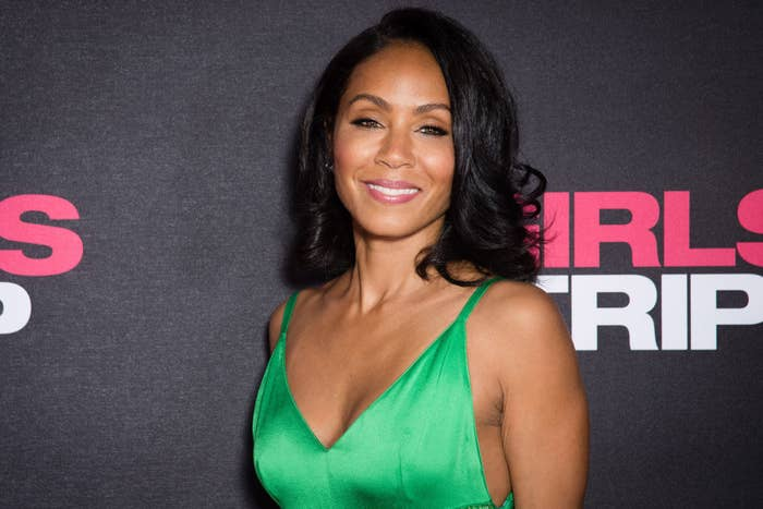 """Jada Pinkett Smith attends the """"Girls Trip"""" Paris Premiere with her hair in soft waves"""