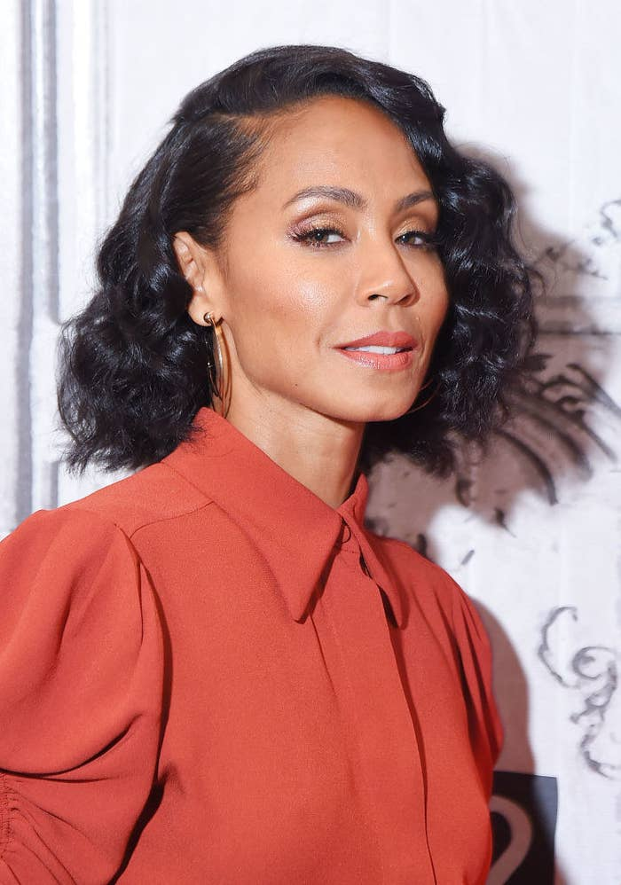 """Jada Pinkett Smith visits the Build Series to discuss the movie """"Girls Trip"""" and rocks a chin length wavy bob"""