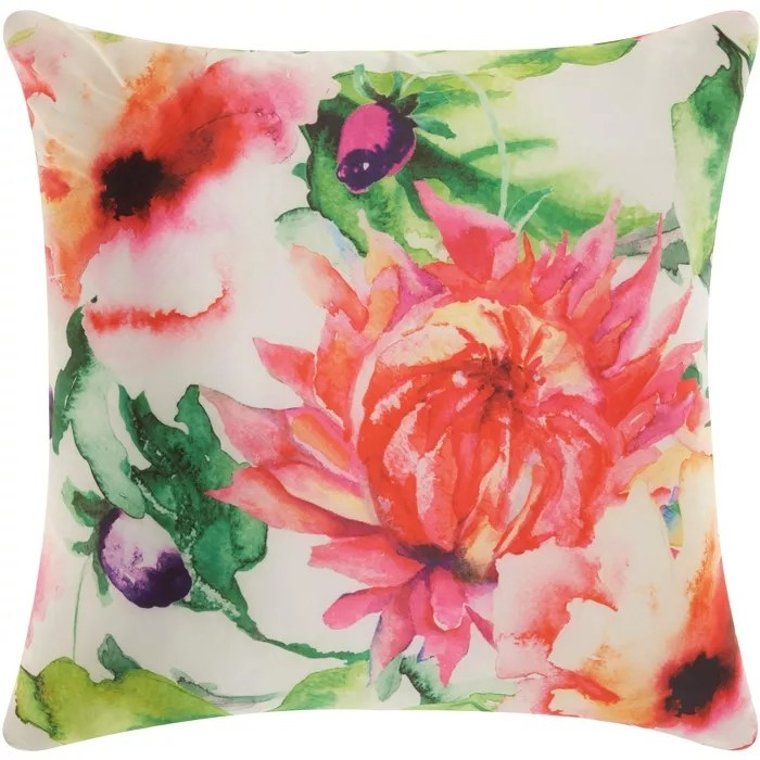The floral painted pillow