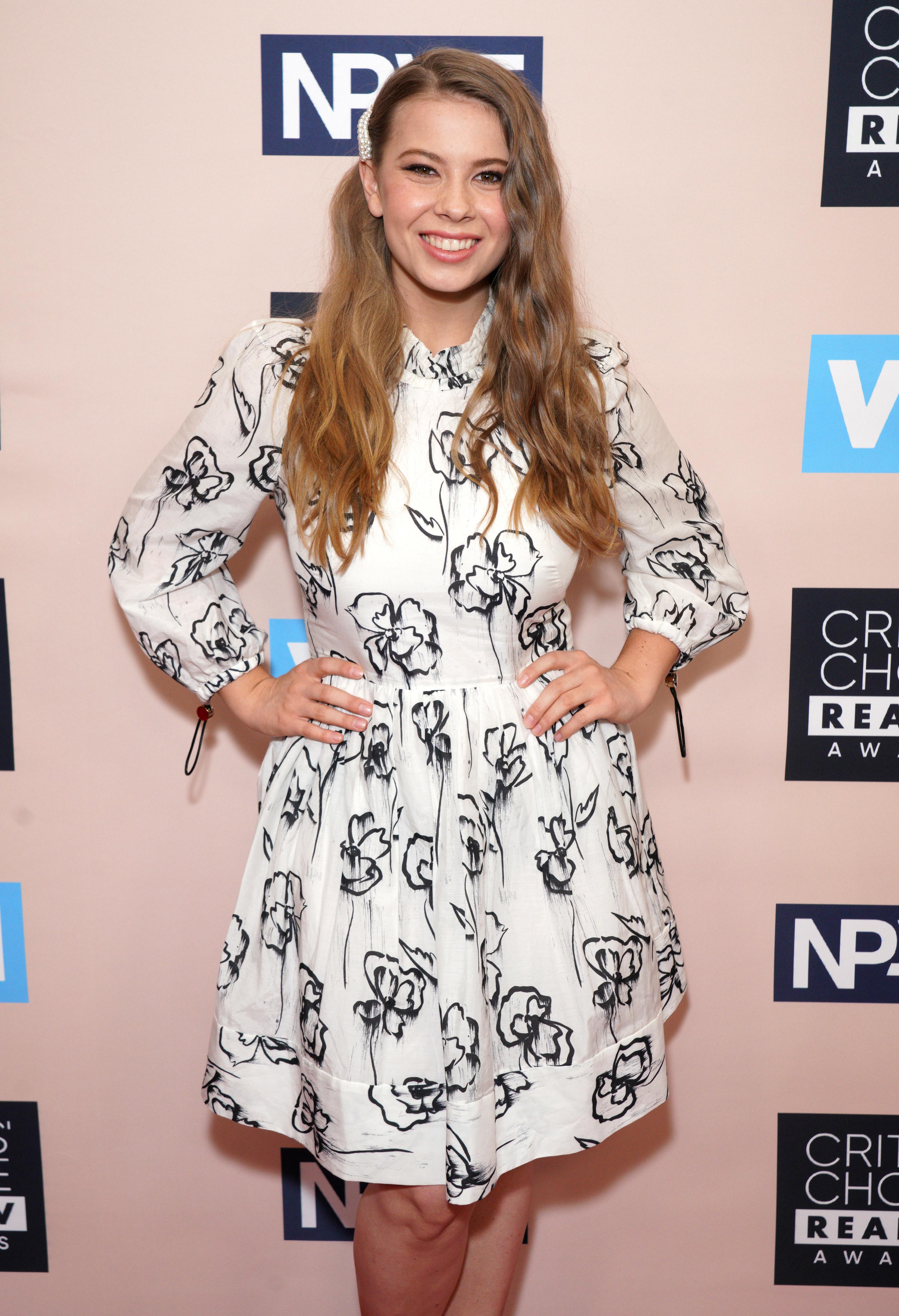 Bindi Irwin attending the Critics' Choice Real TV Awards