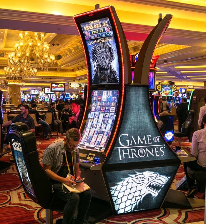 A photo of the slot machine in a casino