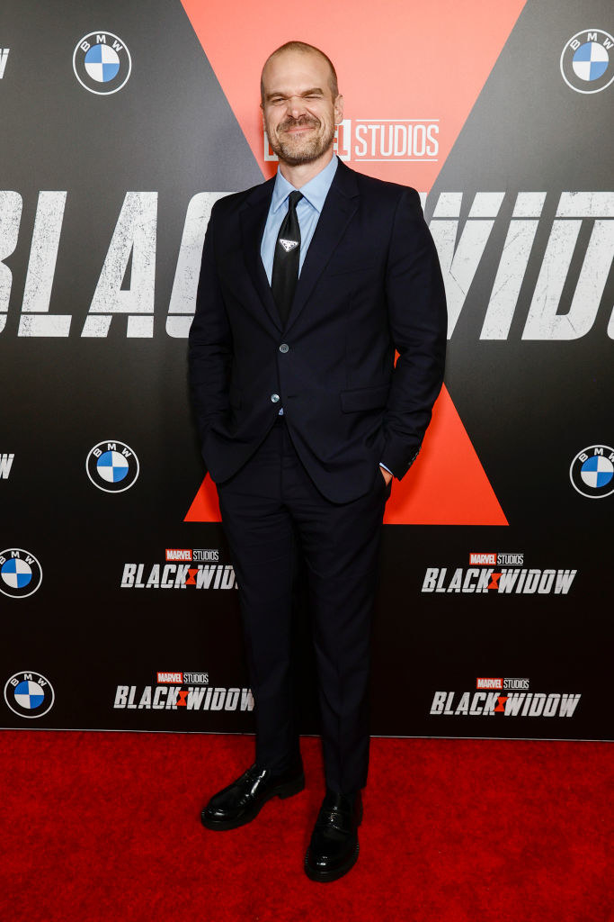 David Harbour attends the Black Widow World Premiere Fan Event