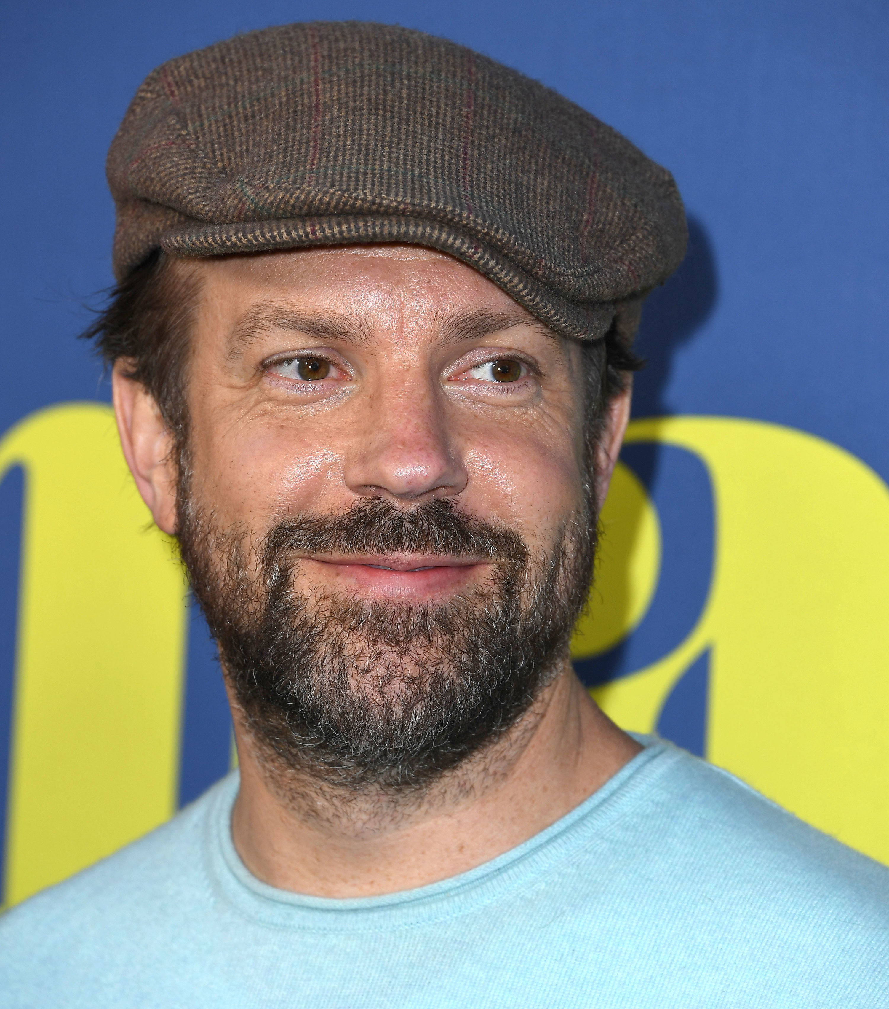Jason Sudeikis is photographed at a film screening in 2019
