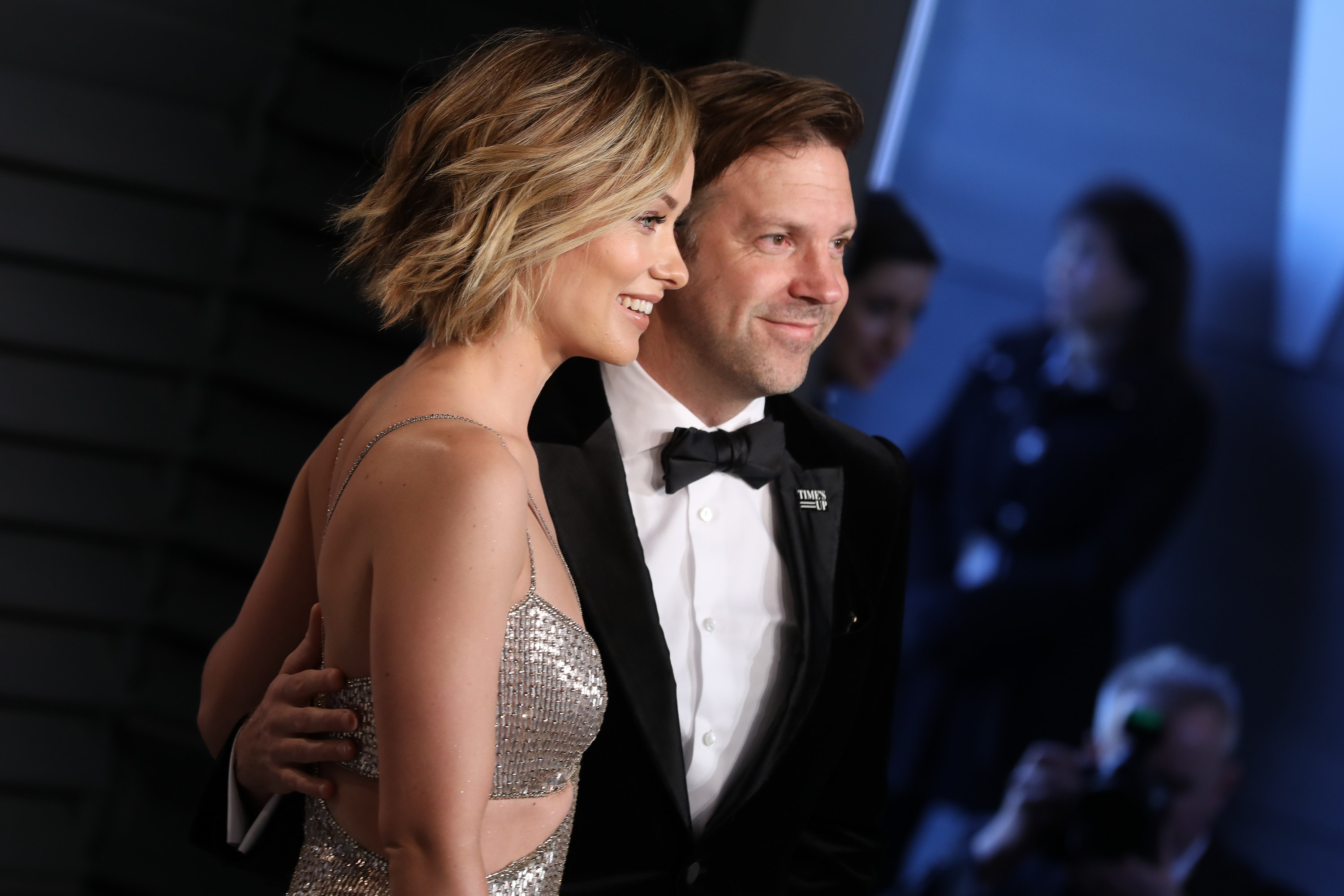 Olivia Wilde and Jason Sudeikis at the Vanity Fair Oscar Party in 2018