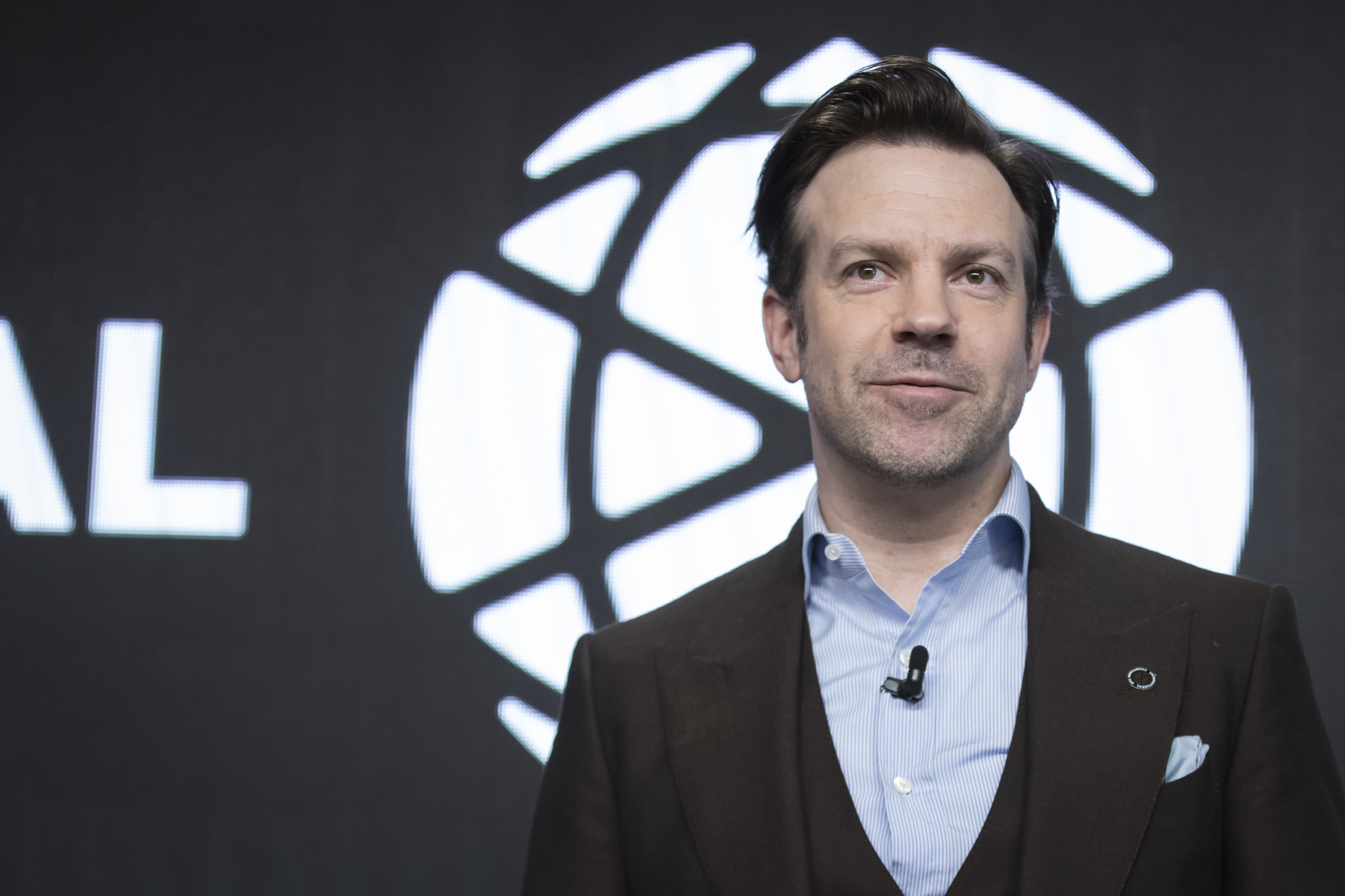 Jason Sudeikis is photographed at an event in 2019