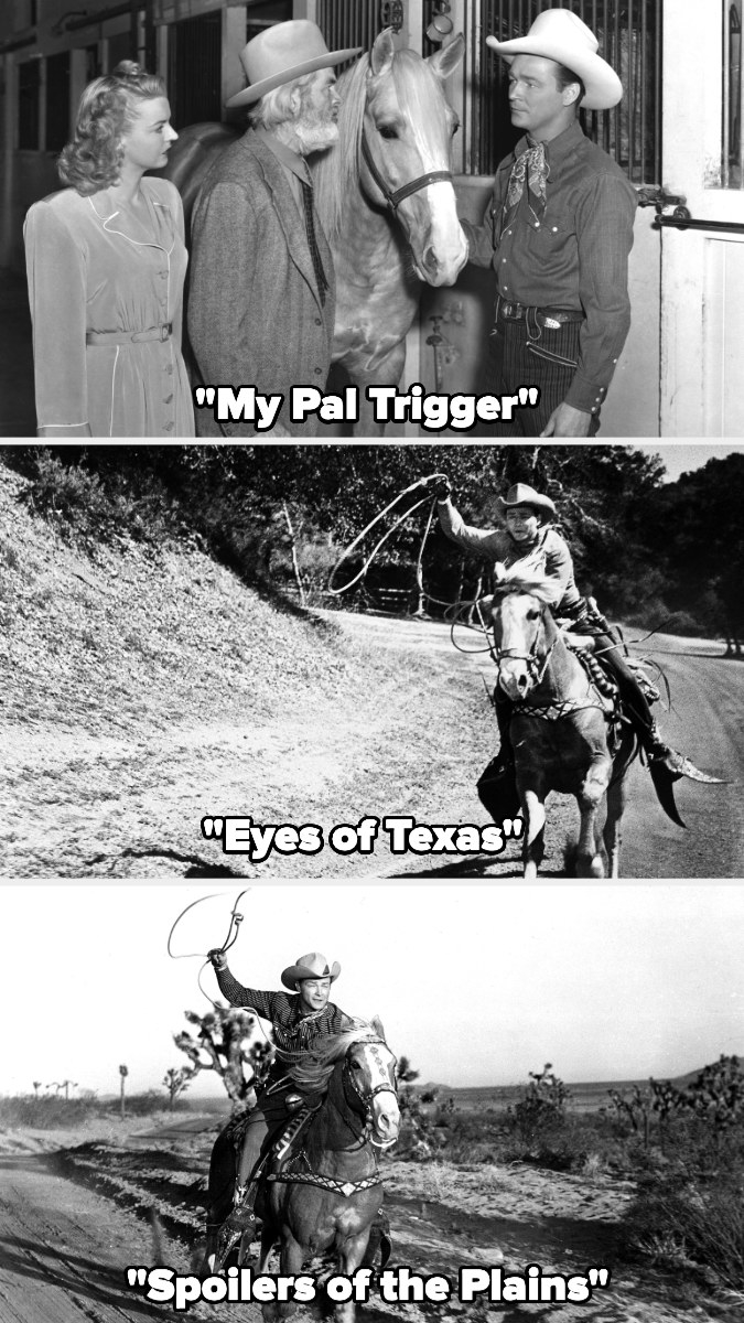 """Trigger in """"My Pal Trigger,"""" """"Eyes of Texas,"""" and """"Spoilers of the Plains"""""""