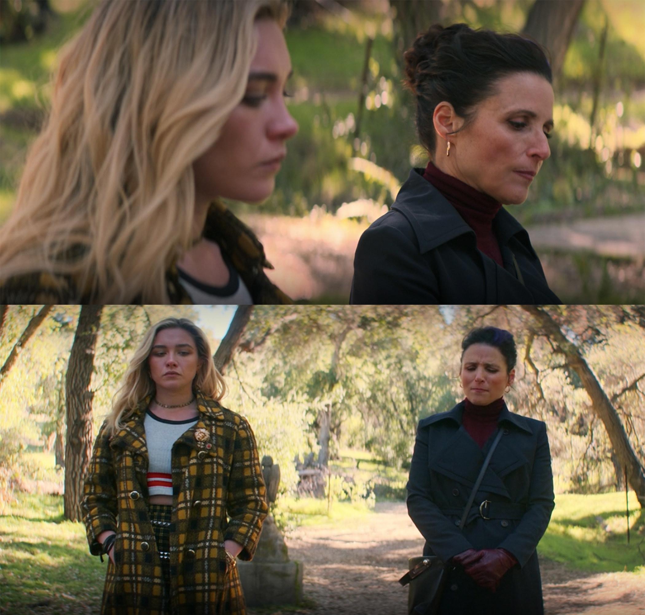 Val meets Yelena at Nat's grave