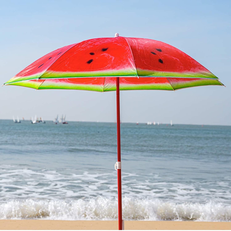 a beach umbrella on a beach