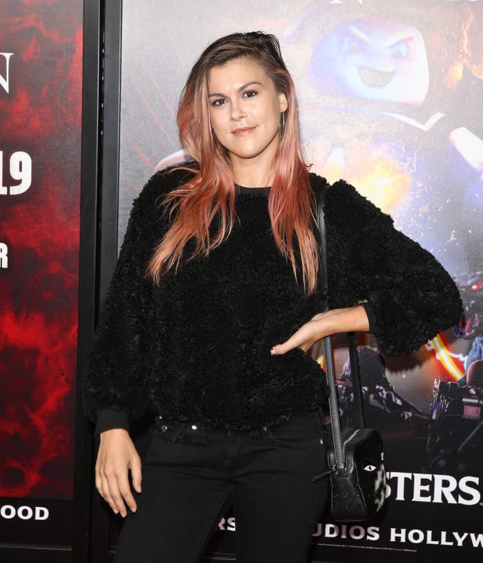 Lindsey Shaw is photographed at Universal Studios' Halloween Horror Nights in 2019