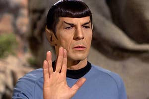 spock doing the live long and prosper hand