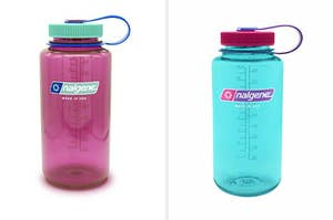 two nalgene water bottles next to each other