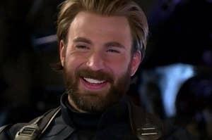captain america smiling