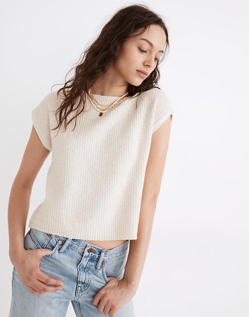 model in the cream top