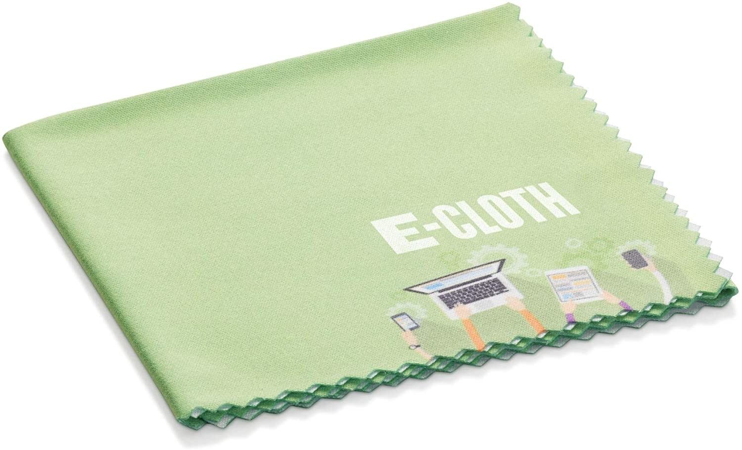 a green e-cleaning cloth