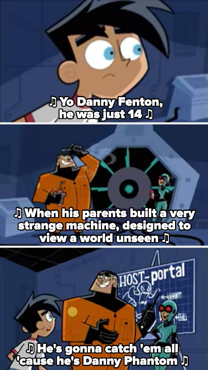 Danny seeing the ghost portal for the first time