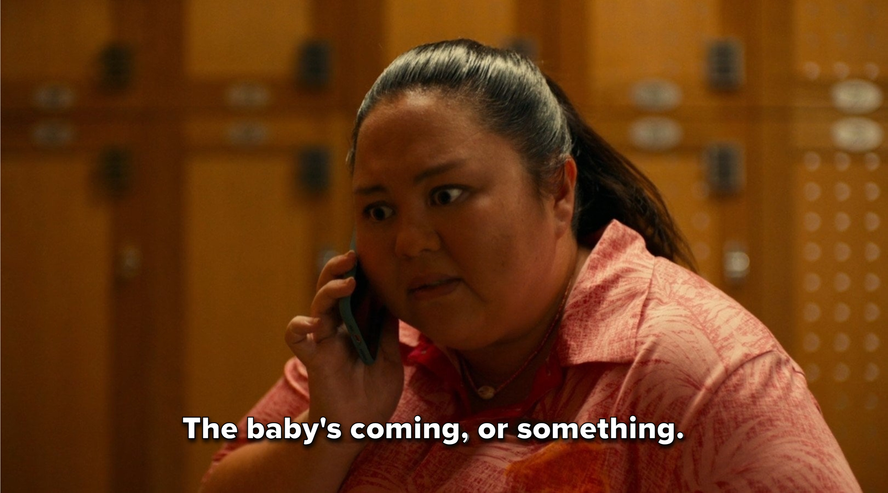 Lani tells Darrell that the baby is coming