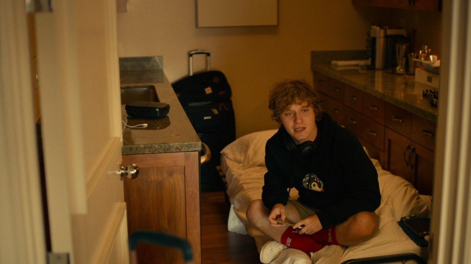 Quinn inside of kitchen