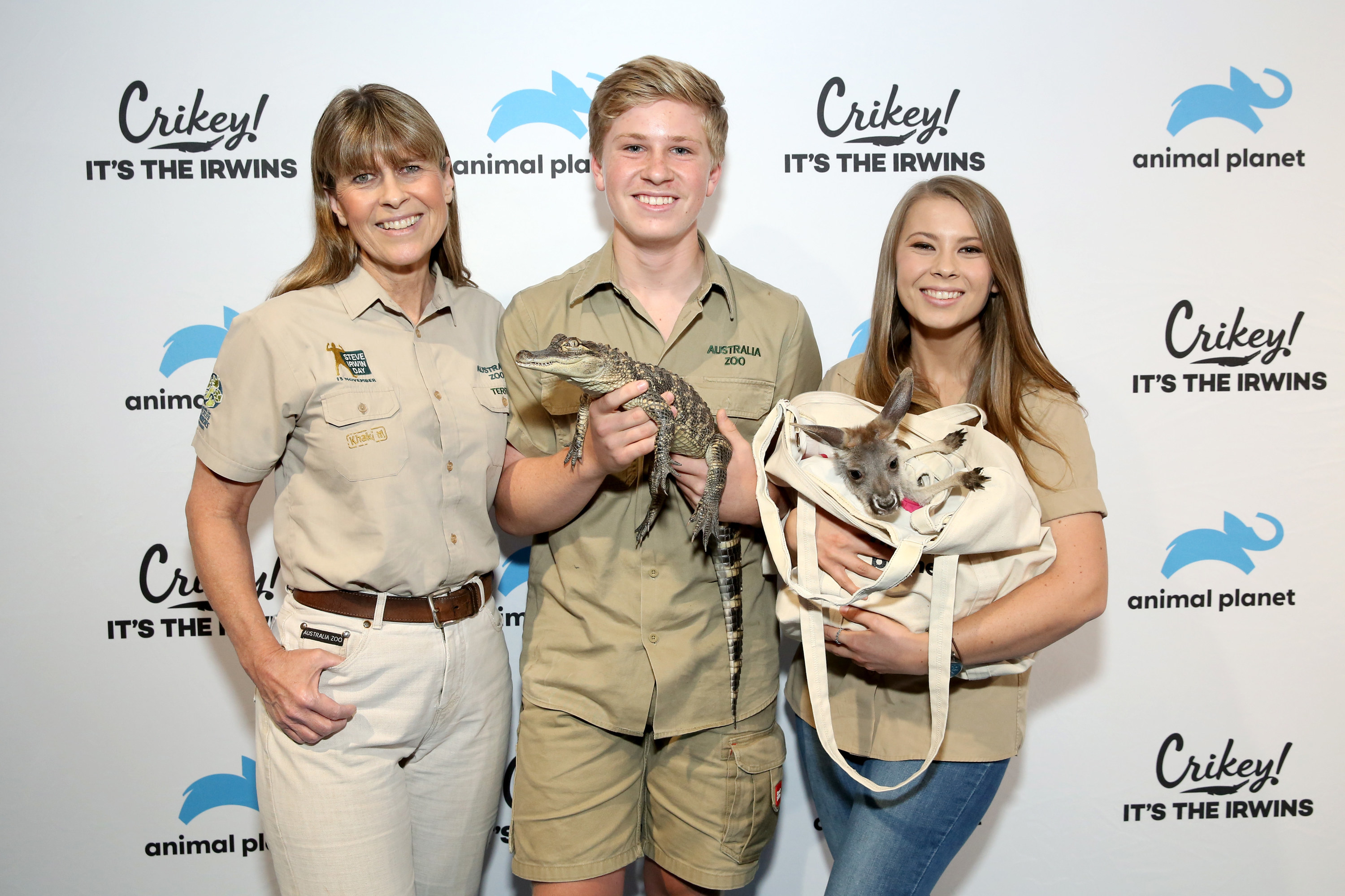 The Irwin family promoting Crikey! It's the Irwins