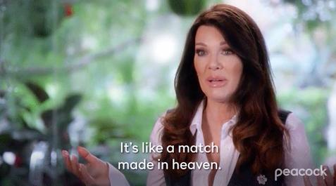 "Lisa Vandepump saying ""It's like a match made in heaven"""