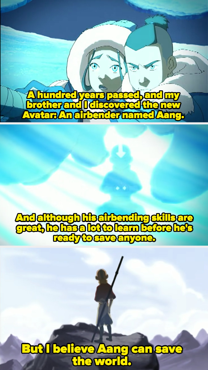 Katara describing how she and Sokka discovered the Avatar
