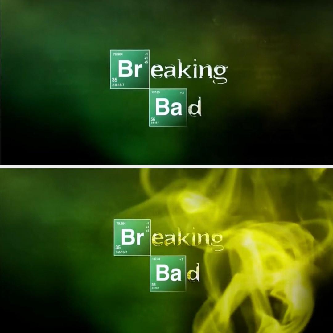 The breaking bad logo rusting