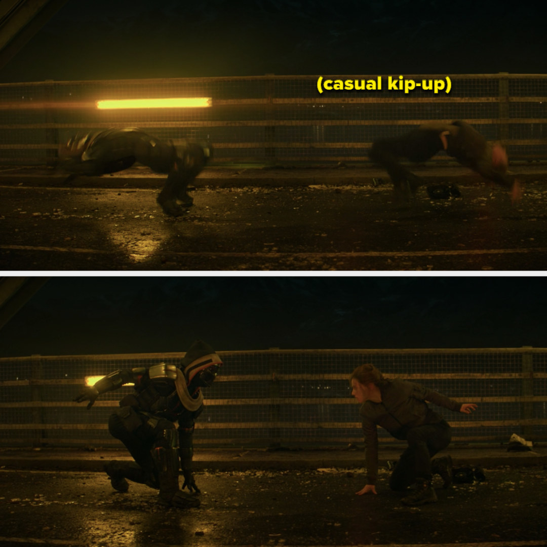 Black widow in a fight with taskmaster