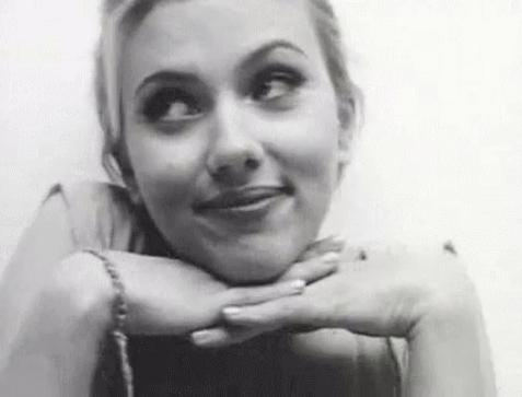 Scarlett Johansson looking dreamily