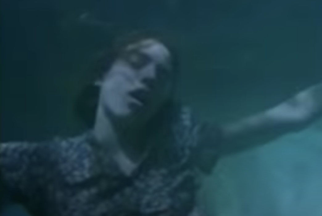 A woman drowning