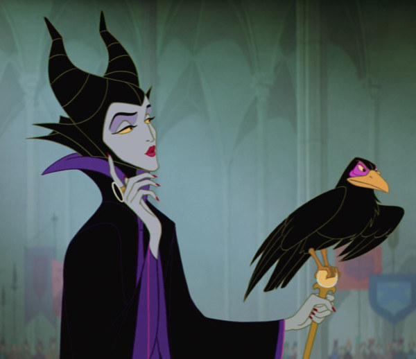maleficent holds a crow