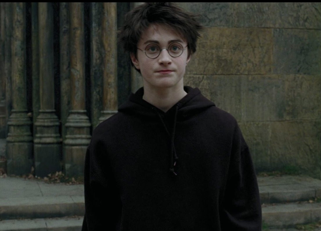 harry potter with mouth in a line