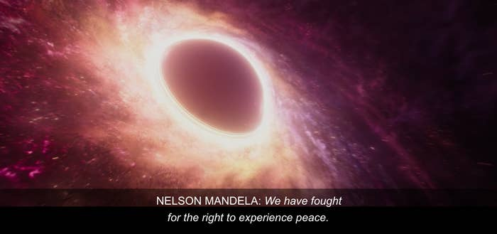 """Nelson Mandela saying """"We have fought for the right to experience peace"""""""