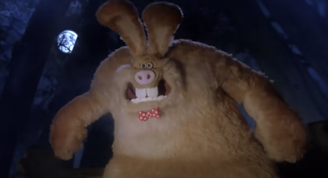 The were-rabbit snarling