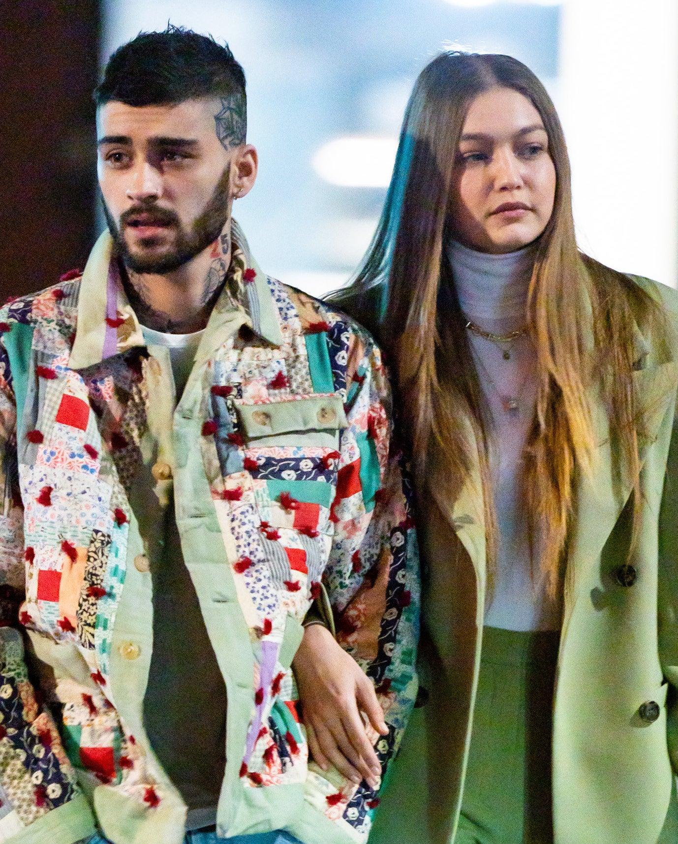 Zayn Malik and Gigi Hadid are photographed walking in New York City