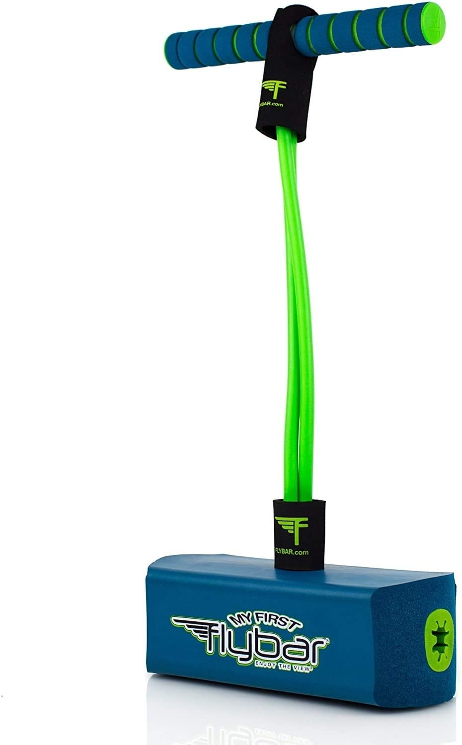 The foam pogo jumper in blue and green